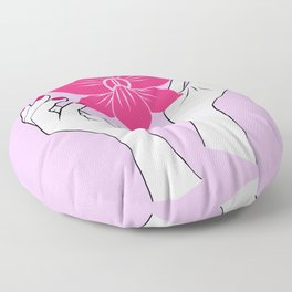 Holy orchid Floor Pillow