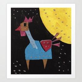 Squareland - squicken Art Print