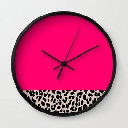 Minimal Leopard Wall Clock