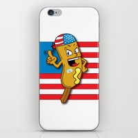 chad wys iPhone & iPod Skins featuring Chad the Ornery Corndog by Alex Dutton