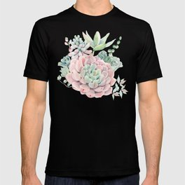 Pink Succulents by Nature Magick T-shirt
