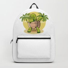 Dabbing Turtle | Dance Tortoise Tortuga Disco Backpack