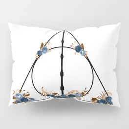Deathly Hallows in Blue and Brown Pillow Sham
