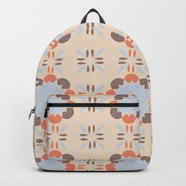 Blue Retro Tile Backpack