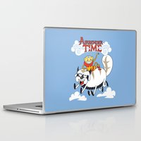 aang Laptop & iPad Skins featuring Airbender Time by Kari Fry