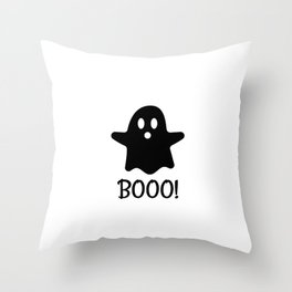 Scary Ghost Throw Pillow