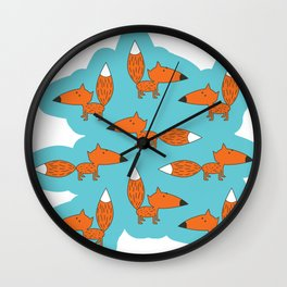 Red muzzle Wall Clock