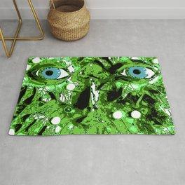 Green face Rug