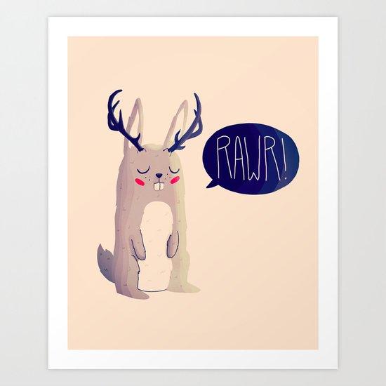 Fearsome Critter Art Print