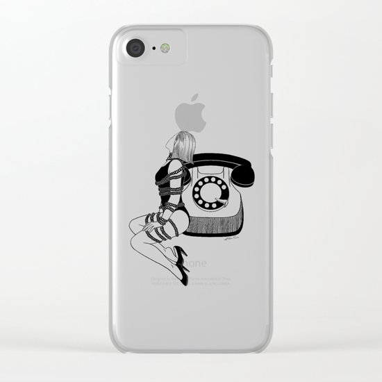 Waiting for your call Clear iPhone Case