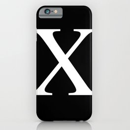 X - Harlem - African-American Remembrance Motif iPhone Case