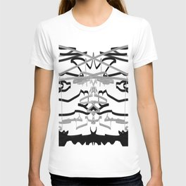 Artistic bat in the darkness , Abstract, art, Gray, black,  graffity, points, bat T-shirt
