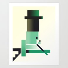 Hats and Ladders Art Print