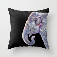 Asian Elephant Throw Pillow