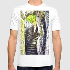 Approach White MEDIUM Mens Fitted Tee