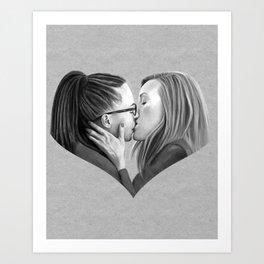 Orphan Kiss Art Print