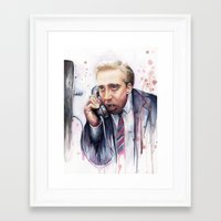 nicolas cage Framed Art Prints featuring Nicolas Cage by Olechka