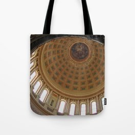 The rotunda of the Capitol building in Madison, Wisconsin Tote Bag