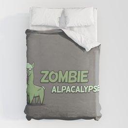 Zombie Alpacalypse Duvet Cover