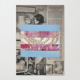 Mirrored Pride - Transgender Flag Collage by Mackenna Morse Canvas Print