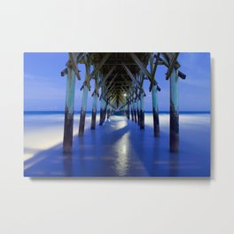 Topsail Pier on Clouds Metal Print