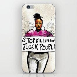 Stop Killing Black People iPhone Skin
