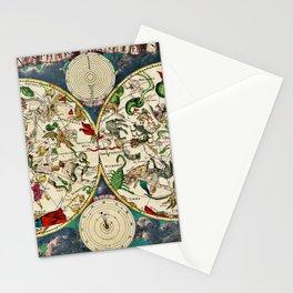 Vintage Celestial Map 1670 Stationery Cards