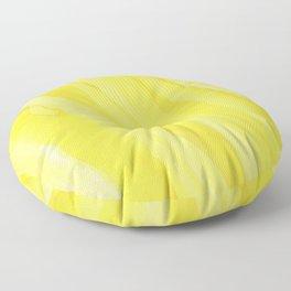 #030 - Monochrome Ink in Yellow Floor Pillow