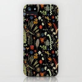 Dark Floral Sketchbook iPhone Case