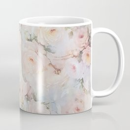 Vintage romantic blush pink ivory elegant rose floral Coffee Mug