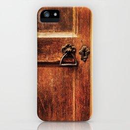 At the church door iPhone Case