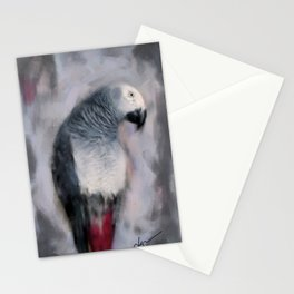 African Grey Parrot  Stationery Cards
