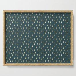 Gold drops Elegant minimalist Pattern Serving Tray