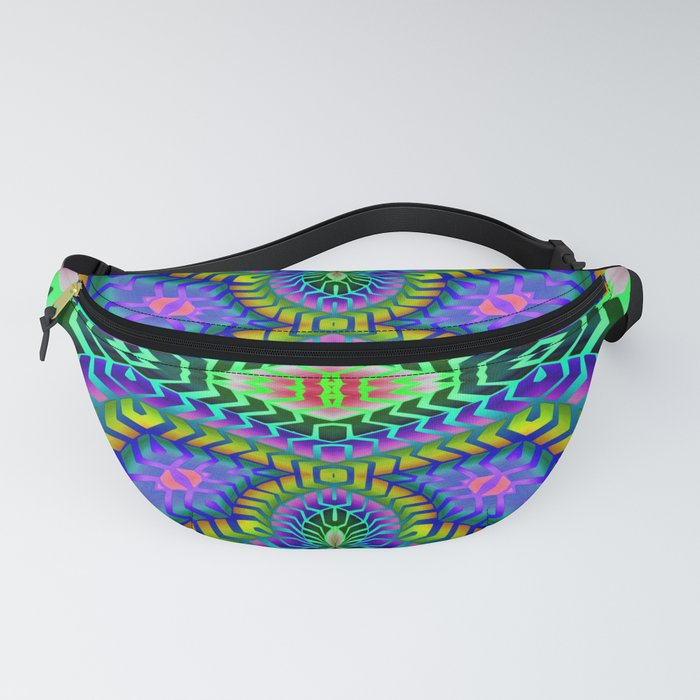 Tribal Rainbow Lotus Fanny Pack