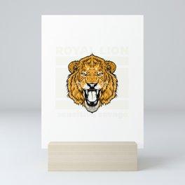 lion for people who like sensitive savages  Mini Art Print