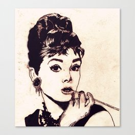 Chapped Hepburn Canvas Print