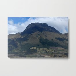 Mount Imbabura in the Andes Metal Print