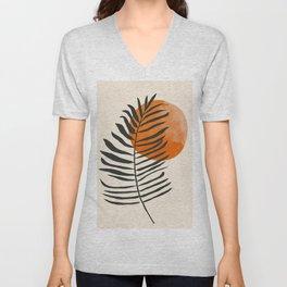 Minimal Art /Plant Unisex V-Neck