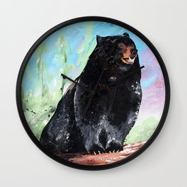Animal - Courage of a Bear - by LiliFlore Wall Clock