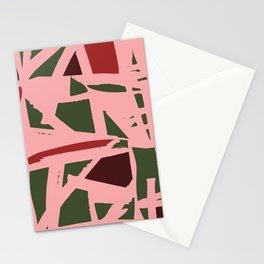 Modern Christmas Pattern Print Design Stationery Cards