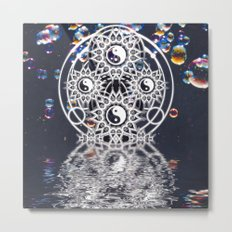 Yin Yang Symmetry Balance Reflection Metal Print