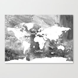 The world's most beautiful ports, map Canvas Print