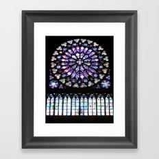 Window of Notre Dame. Framed Art Print