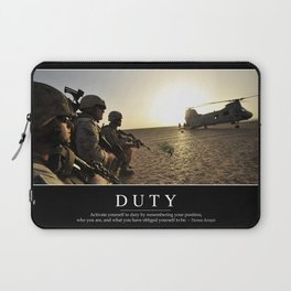 Duty: Inspirational Quote and Motivational Poster Laptop Sleeve