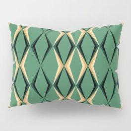Art Deco Green & Gold Pillow Sham