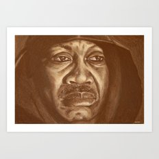 round 2...joe frazier Art Print