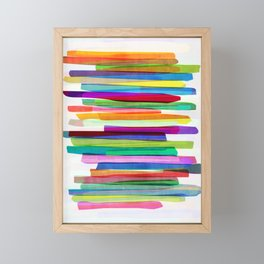 Colorful Stripes 1 Framed Mini Art Print
