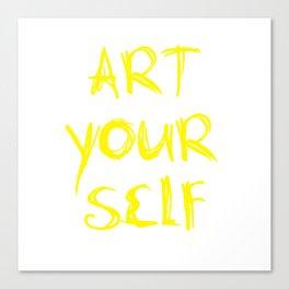 Art Your Self Canvas Print