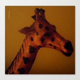 Giraffe safari Canvas Print