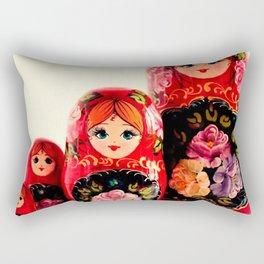 Babushka Russian Doll Rectangular Pillow